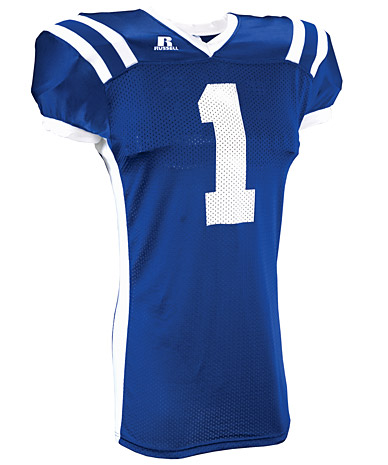 Russell athletic product adult color block custom football jersey